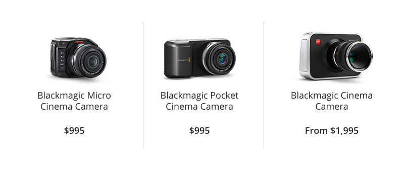 Blackmagic Design Affordable Video Cameras