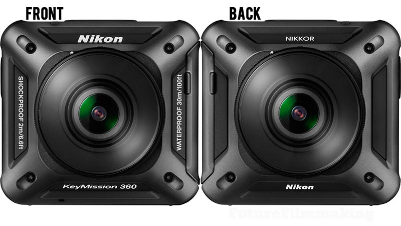 Nikon KeyMission360 front and back
