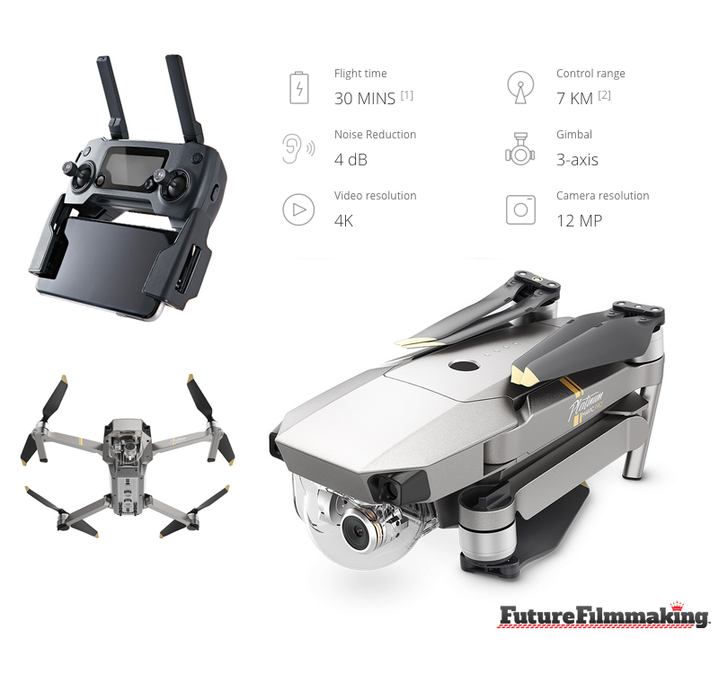 DJI-Mavic-Pro-Platinum Features FutureFilmmaking