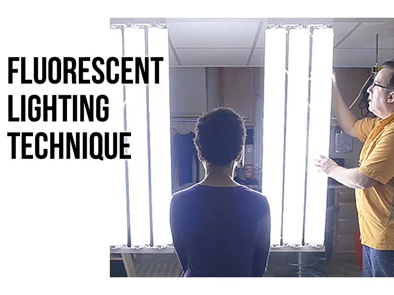 fluorescent video lighting technique
