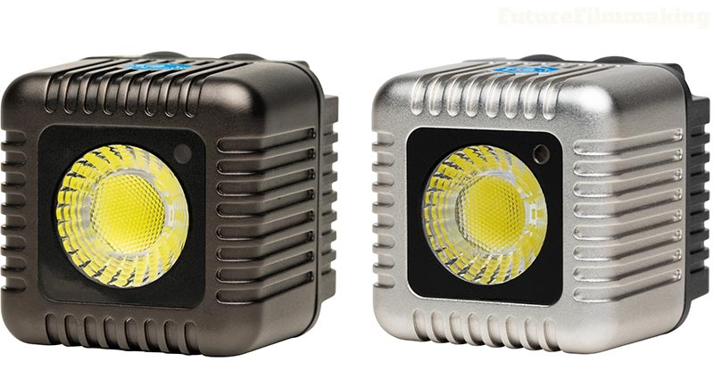 lume cube led light in black and silver