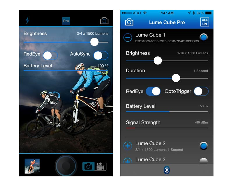 lume cube pro app for android and iOS