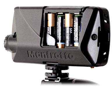 Manfrotto ML360H Midi Hybrid LED Light Review - battery
