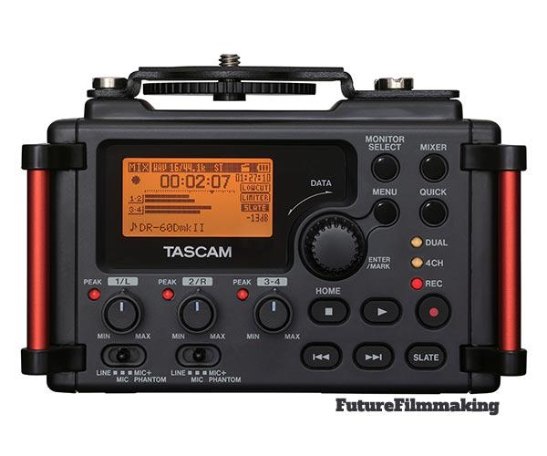 tascam dr60dmk2 digital portable audio recorder dslr