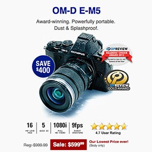 Olympus Holiday Deals