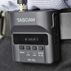 TASCAM Announces DR-10L – Self-Contained Lavalier Mic & Recording System